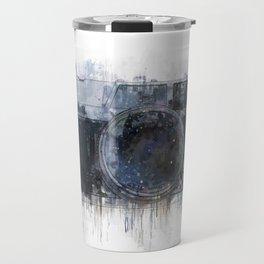 retro camera drawing - illustration / painting 1 Travel Mug