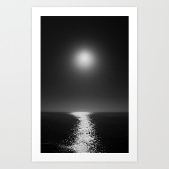 Moonlight Mist Art Print
