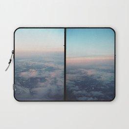 Aerial photo of Boston area - Sunset sky Laptop Sleeve