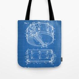 Snare Patent - Musician Art - Blueprint Tote Bag