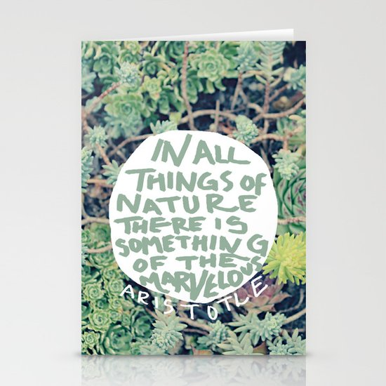 Aristotle: Nature Stationery Cards