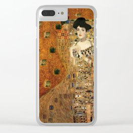Klimt Woman on Gold Backgroun Clear iPhone Case