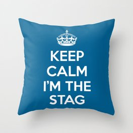 Keep Calm Stag Quote Throw Pillow