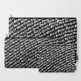 Resist - White on Black Carry-All Pouch