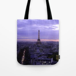 Eiffel Tower Sunset Tote Bag