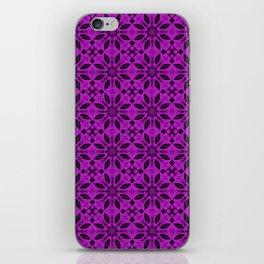 Dazzling Violet Floral Pattern iPhone Skin