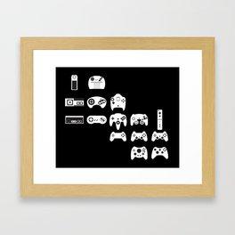 History of gaming Framed Art Print