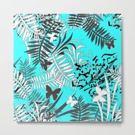 Turquoise tropical Metal Print