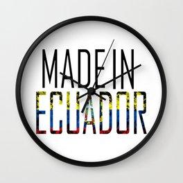 Made In Ecuador Wall Clock