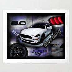 2018 Mustang Art Print