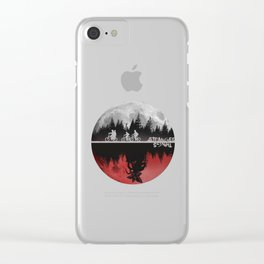 Stranger Thing Moon The Upside Down Clear iPhone Case