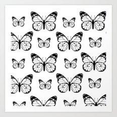 Butterflies in the Snow  Art Print