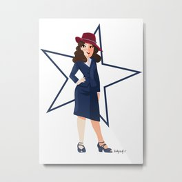 Agent Carter Metal Print