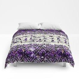 Amethyst Yoga Asanas  on mother of pearl Comforters