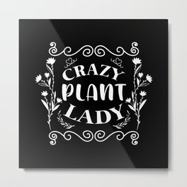 Florist Flower Flowers Gardener Plants Gift Idea Metal Print