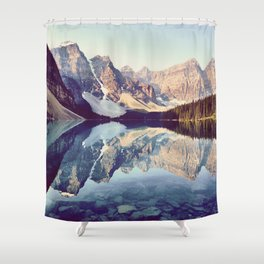 Moraine Lake Reflection Shower Curtain