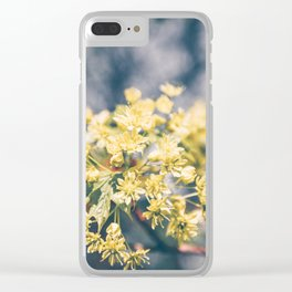 Yellow Linden Flower Branch Blooming Summer Clear iPhone Case