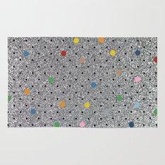Pin Points Polka Dots Shiny Rug