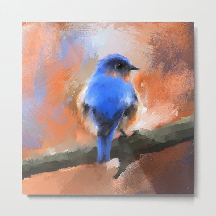 My Little Bluebird Metal Print