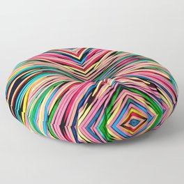 Toothpick Fusion Abstract Pattern Landscape Floor Pillow
