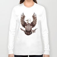 politics Long Sleeve T-shirts featuring Politics of Blood by Gray Spear Society