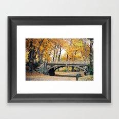Autumn in New York City Central Park Framed Art Print