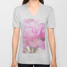 Light Pink Blend Rose #1 #floral #decor #art #society6 Unisex V-Neck