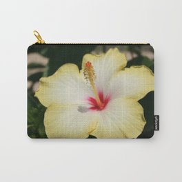 Yellow Hibiscus With Garden Background  Carry-All Pouch