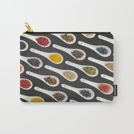 Spice Spoons on chalkboard 2 Carry-All Pouch