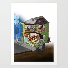 Belcher Residence Art Print