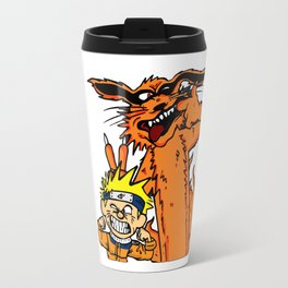 Naruto and Nine-Tails Fox Travel Mug