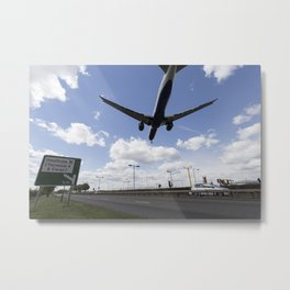 British Airways Landing at Heathrow Metal Print