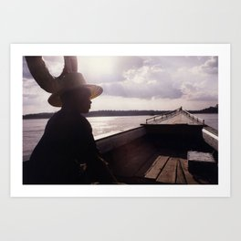 Ubon Ratchathani TH - Mekong Dawn Art Print