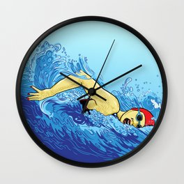 Swimming Girl Wall Clock