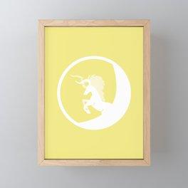 The White Unicorn Framed Mini Art Print