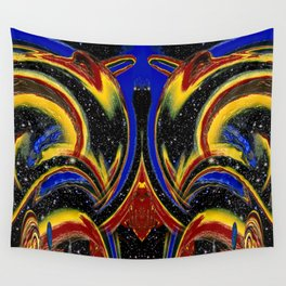 Chromatic Time Warp Voyage Wall Tapestry