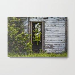 Unusual Abandoned Building, Burleigh County, ND 6 Metal Print