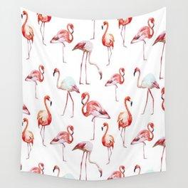 Pink Flamingos Wall Tapestry