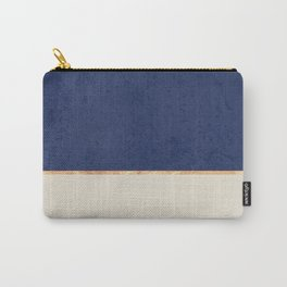 Navy Blue Gold Greige Nude Carry-All Pouch