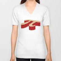 pi V-neck T-shirts featuring Pi Pie by Rryan