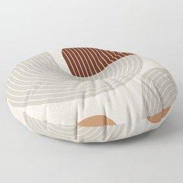 Mid Century Line Art VI Floor Pillow