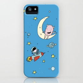 Martina & Anitram in the space iPhone Case