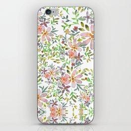 Blooming garden watercolor iPhone Skin