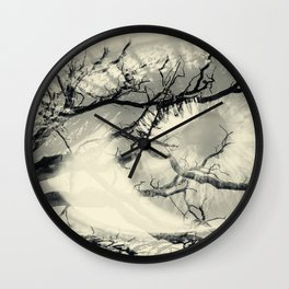 Vision of the Tree Abstract Wall Clock