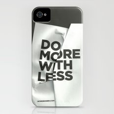 Do More With Less iPhone (4, 4s) Slim Case
