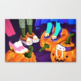 Pumpkin Cats Canvas Print