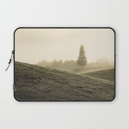 Tree in fog from a distance Laptop Sleeve