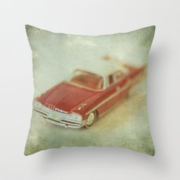 Vintage Red De Soto  Throw Pillow