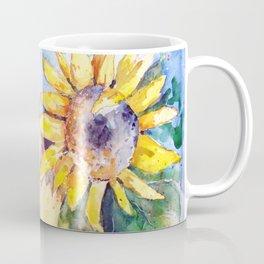Sunflower and cat Coffee Mug