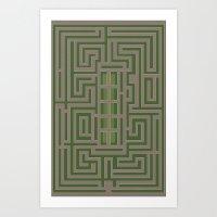 THE OVERLOOK MAZE Art Print